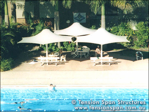 Tension membrane structures for aquatic centres - Brisbane city council swimming pools ...